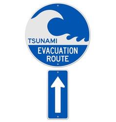 Tsunami Evacuation Route vector image