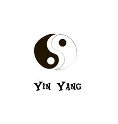 Buddhist symbol of yin yang Chinese symbol vector image