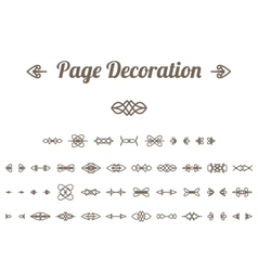 Calligraphic page decoration vector image