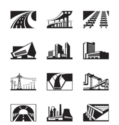 Different industrial construction vector image