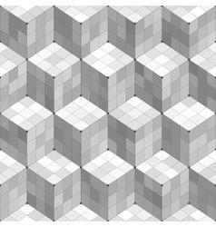 Geometric Cubes Seamless Pattern vector image