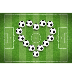 Love for Soccer vector image
