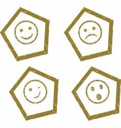 smile press vector image vector image