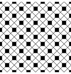 Tile black and white background or pattern vector image vector image