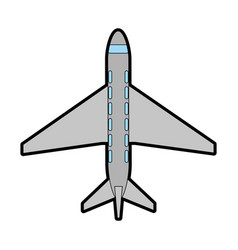 airplane topview icon image vector image
