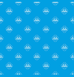 alebard pattern seamless blue vector image