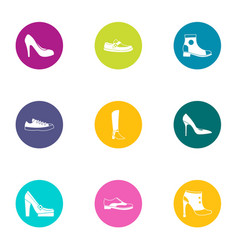 Attend icons set flat style vector