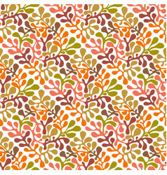 autumn seamless floral pattern vector image