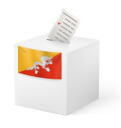 Ballot box with voting paper Bhutan vector