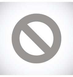 Ban black icon vector