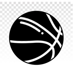 Basketball icon for sports apps and websites vector