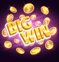 big win money prize winning gambling vector image