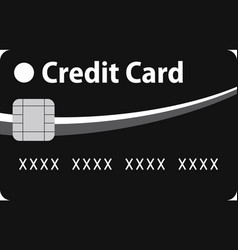 Black and blue credit card vector