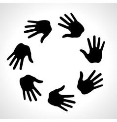 Black Hand Print icon logo vector image