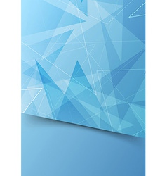 Blue abstract folder template with border vector