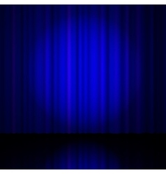 Blue curtain from the theatre vector