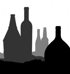 bottle landscape vector image vector image
