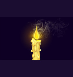 Burning candle fire vector