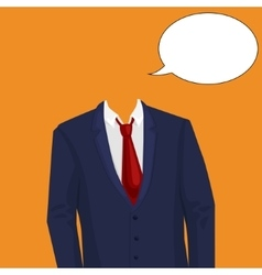 Businessman suit temlate without head vector