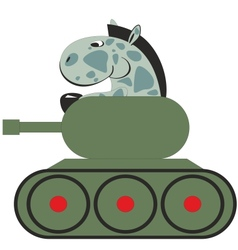 Cartoon horse in the tank 011 vector image