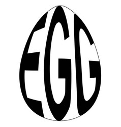 chicken egg with text egg logo easte vector image