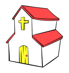 Church icon in icon cartoon vector