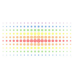clock gear spectrum halftone pattern vector image