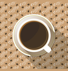 coffee cup top view flat icon vector image
