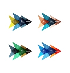 Colorful arrow option infographics banners vector image