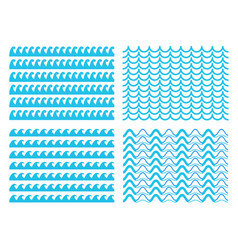creative of blue sea line vector image
