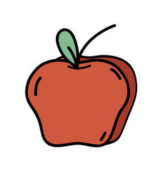 Delicious fresh apple organic fruit vector