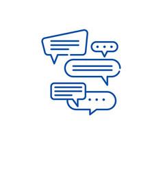 Dialog line icon concept dialog flat vector