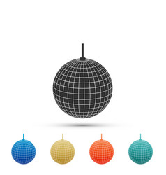 disco ball icon isolated on white background vector image