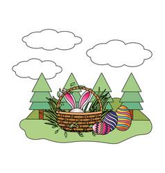 easter eggs hunt vector image