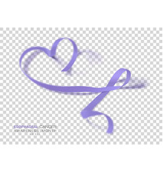 Esophageal cancer awareness month periwinkle vector
