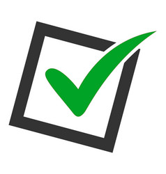 Flat yes poll icon vector
