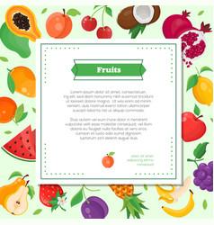 Fresh fruit - modern colorful vector