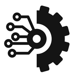 gear smart ai icon simple style vector image