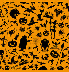 Halloween orange background vector