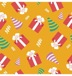 Happy Birthday Seamless Pattern with Presents vector image