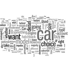 How to decide what used car to buy vector