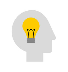 Human head profile with bulb vector