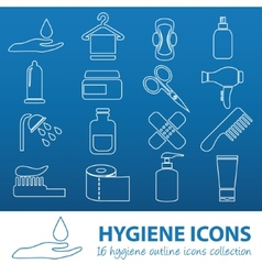 Hygiene outline icons vector