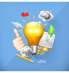 Idea concept business brainstorming set i vector