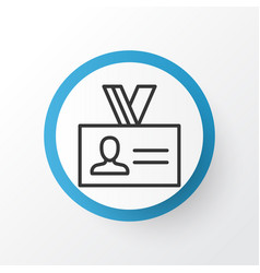 Identity card icon symbol premium quality vector