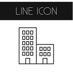 isolated building outline apartment vector image