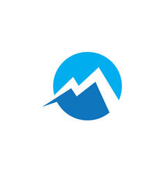 M letter logo business template icon vector