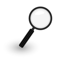 magnifier icon hand magnifying glass black and vector image