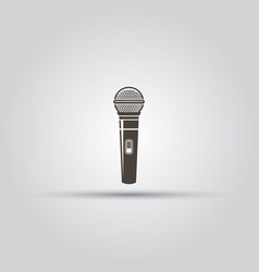 microphone isolated black icon vector image