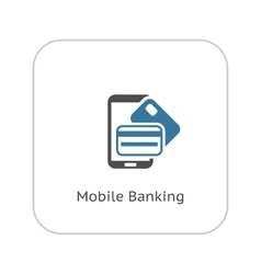 Mobile Banking Icon Flat Design vector image
